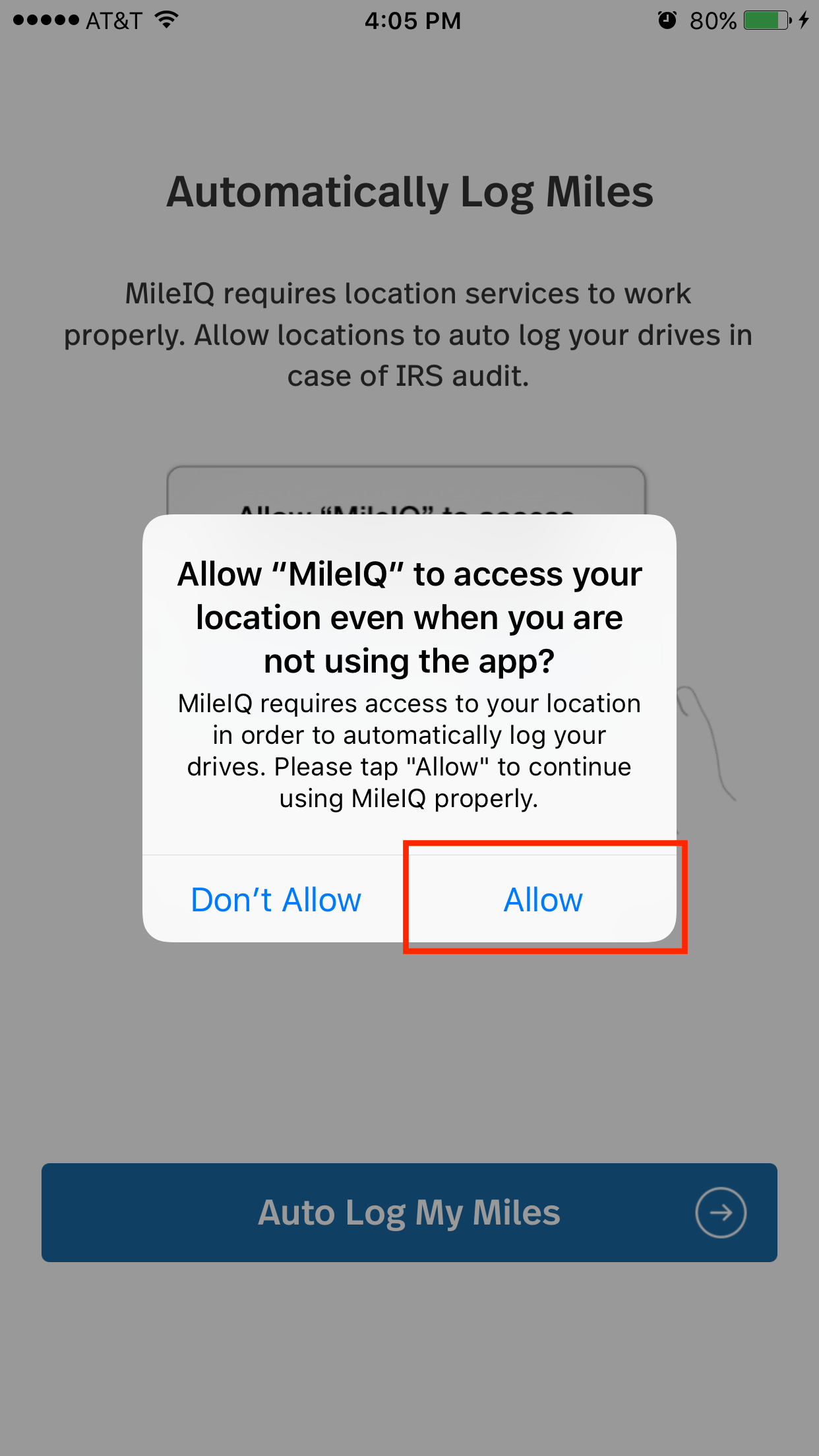 Shop customer account login/downloader - 3 Open The Mileiq App To Complete The New Customer Account Setup