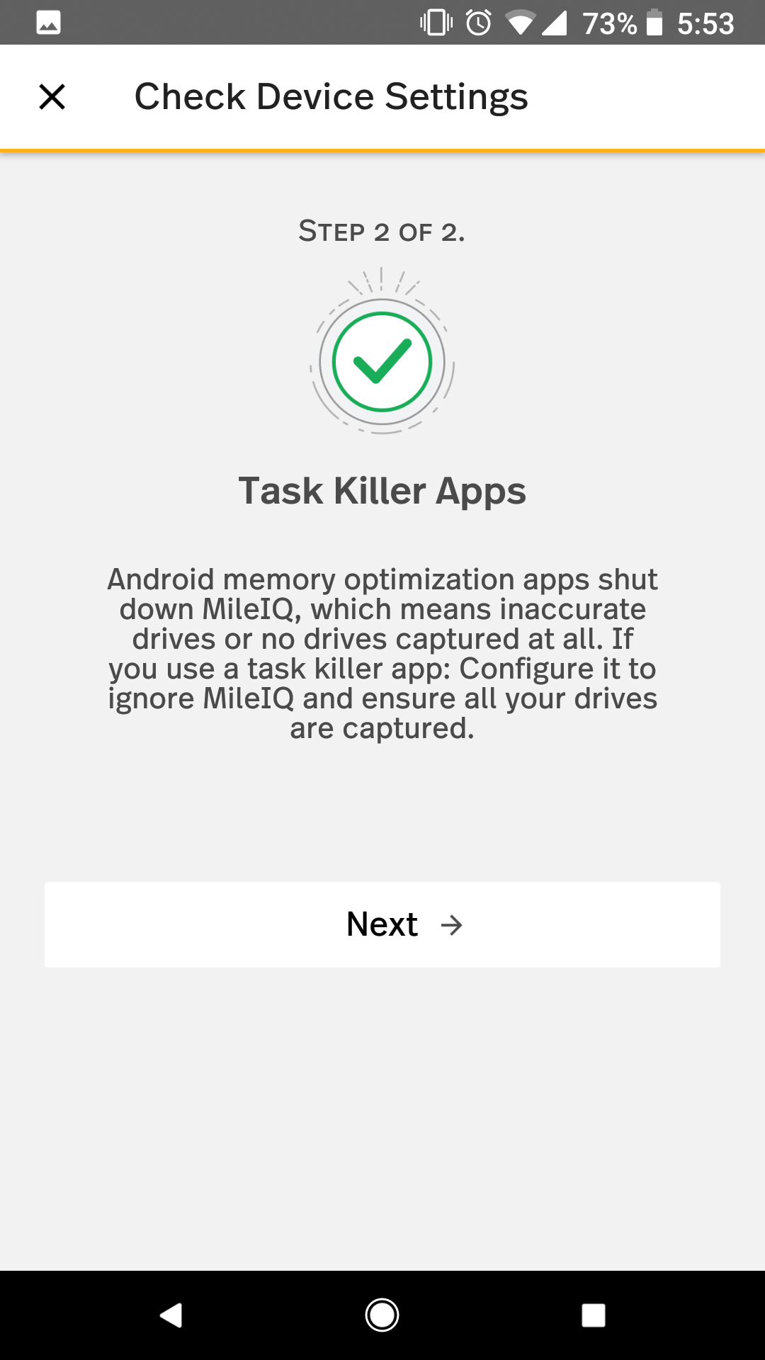 This shows the information around Task Killer Apps that can cause inconsistent drive detection