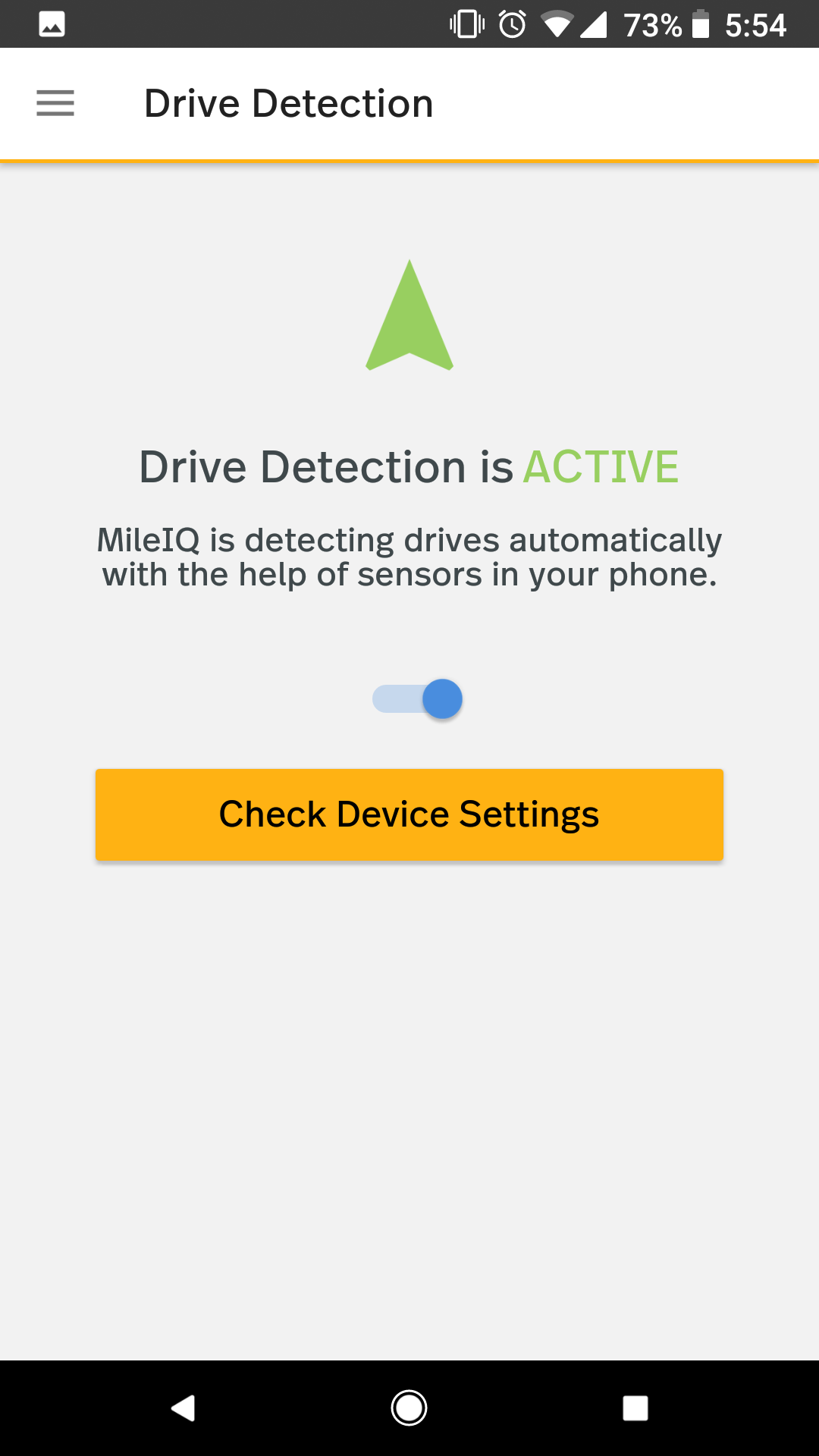 This shows where to access the utility within the drive detection menu within the mobile app's settings