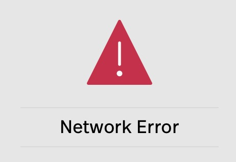 This image shows a network error message