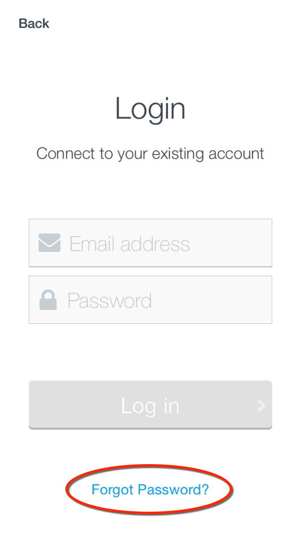 image of login scren with 'forgot password' circled