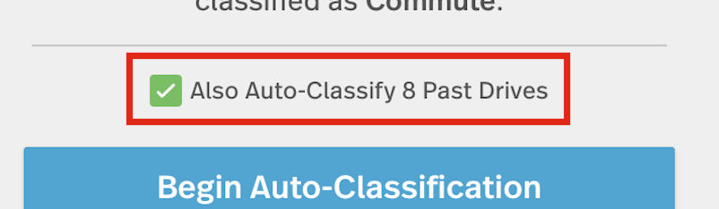 This image shows the green checkbox Also Auto-classify passed drives.